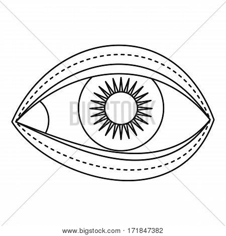 Eyelid surgery icon. Outline illustration of eyelid surgery vector icon for web