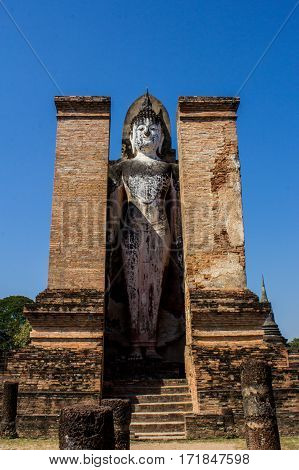 Sukhothai history park in  wad mahathat temple
