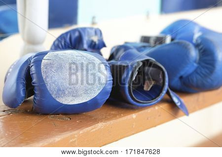 boxing gloveses close up