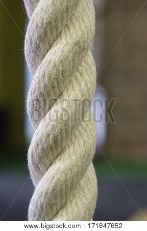 climb rope close up