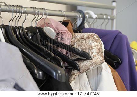 Dresses on a coat-hanger
