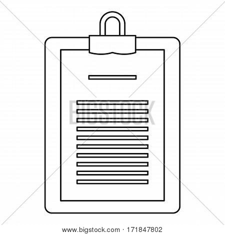 Medical report icon. Outline illustration of medical report vector icon for web