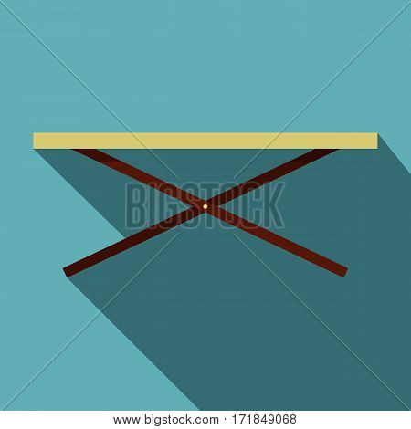 Shopping counter icon. Flat illustration of shopping counter vector icon for web isolated on baby blue background