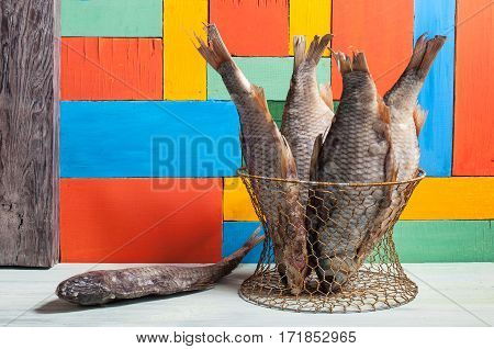 Dried Fish Hanging On A Thread