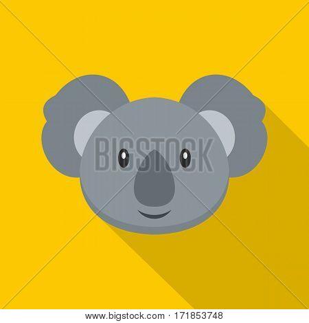 Koala icon. Flat illustration of koala vector icon for web