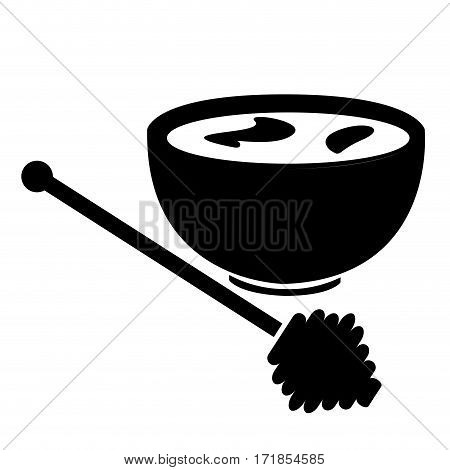 Isolated silhouette of a mortar and a pestle, Spa icon vector illustration