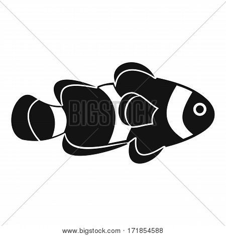 Fish clown icon. Simple illustration of fish clown vector icon for web