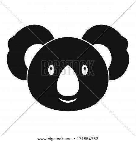 Koala icon. Simple illustration of koala vector icon for web