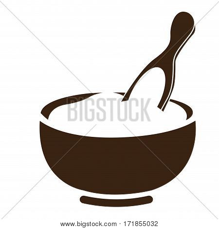 Isolated mortar and pestle icon, Spa vector illustration