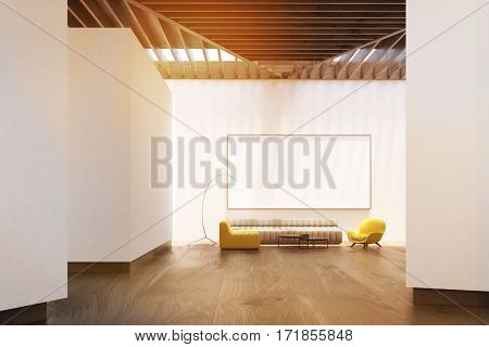 White Living Room, Whiteboard, Front, Toned