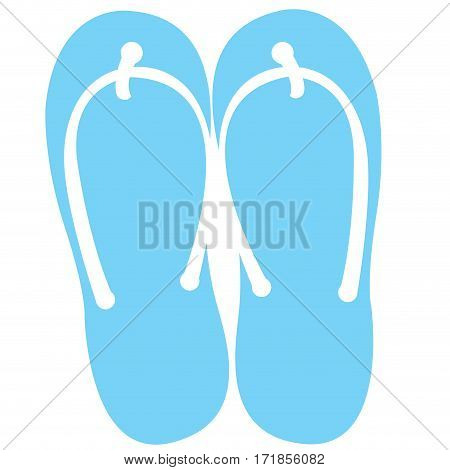 Isolated pair of sandals on a white background, Vector illustration