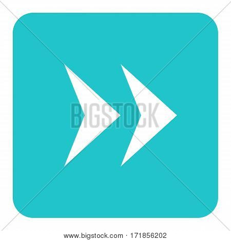 Use it in all your designs. Arrow sign in square icon created in flat style. Quick and easy recolorable graphic element in technique vector illustration