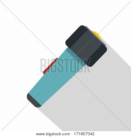 Hand flashlight icon. Flat illustration of hand flashlight vector icon for web