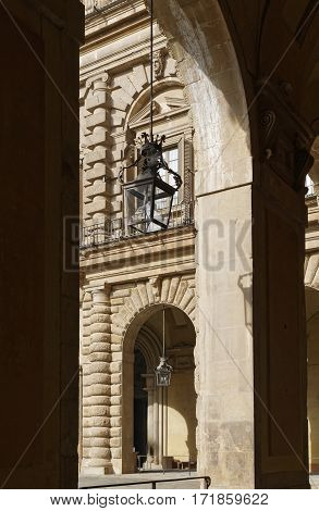 view of palazzo pitti in florence italy