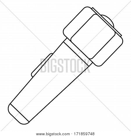 Hand flashlight icon. Outline illustration of hand flashlight vector icon for web