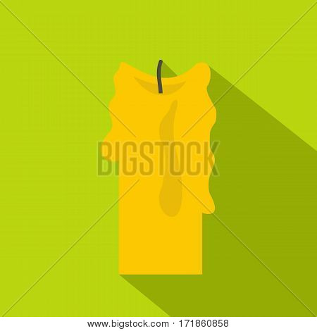 Decorative candle icon. Flat illustration of decorative candle vector icon for web