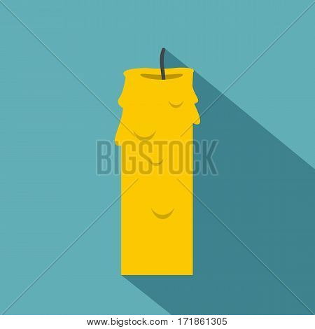 Paraffin candle icon. Flat illustration of paraffin candle vector icon for web