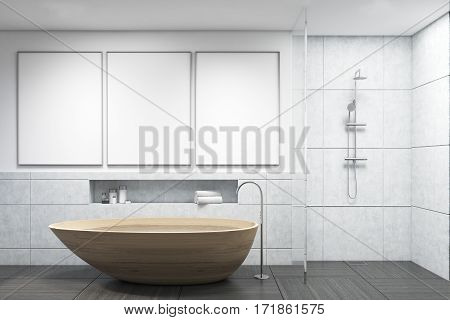 Bathroom With Wooden Tub, Gallery