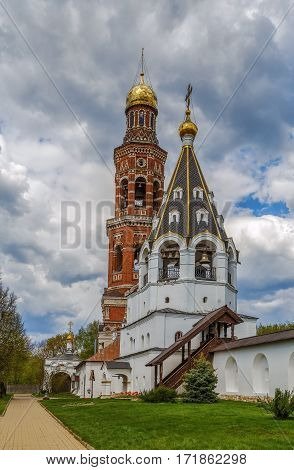 Apostle John monastery near Ryazan Russia. Large bell tower