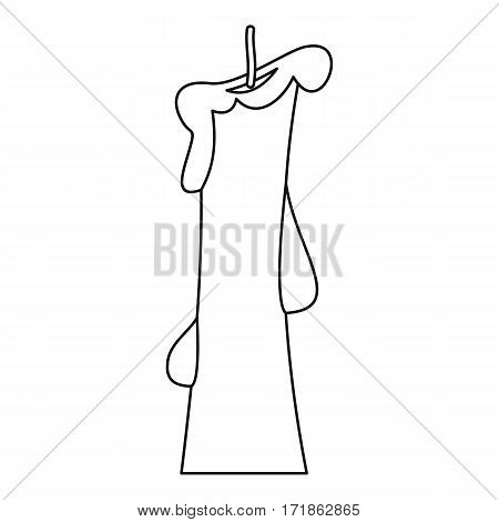 Church candle icon. Outline illustration of church candle vector icon for web