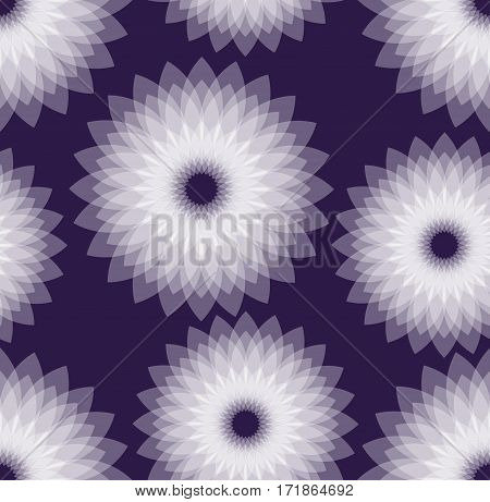 Dark purple background with white semitransparent multilayer star shapes