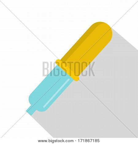 Pipette icon. Flat illustration of pipette vector icon for web