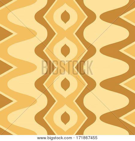 Simple wavy scalloped seamless pattern, vector illustration
