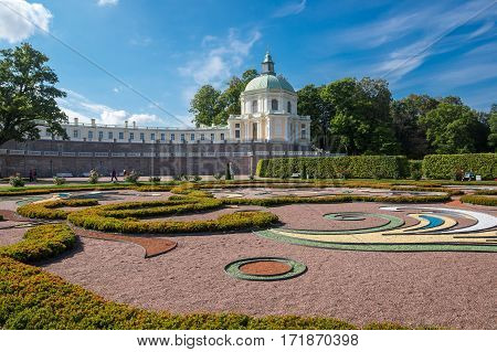Oranienbaum is a Russian royal residence located on the Gulf of Finland west of Saint Petersburg. The Palace ensemble are UNESCO World Heritage Sites