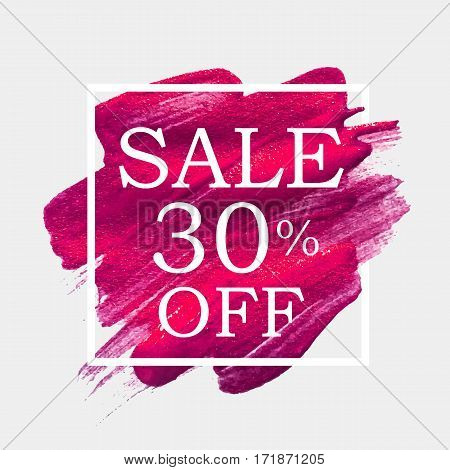 Abstract Brush Stroke Designs Final Sale Banner in Black, Pink and White Texture with Frame. Vector Illustration EPS10