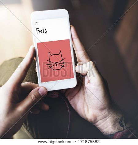 Pets Illustration Symbols Icon Cat