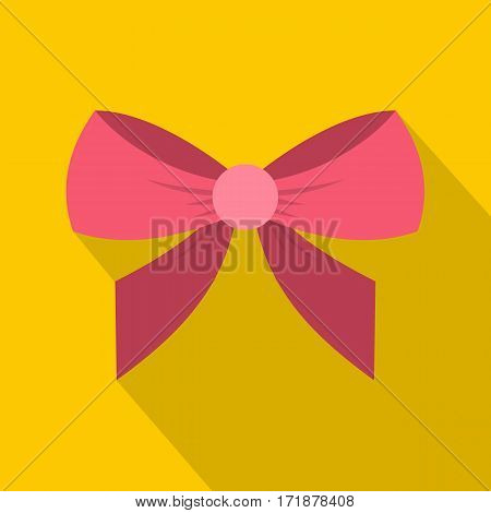 Bow icon. Flat illustration of bow vector icon for web