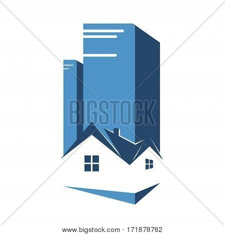 Real estate business design for vector house