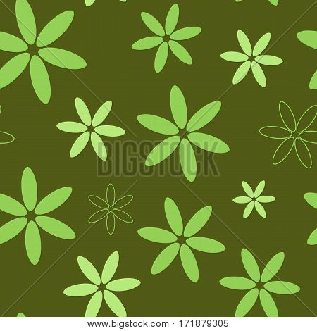 Spring seamless pattern with a flower petals