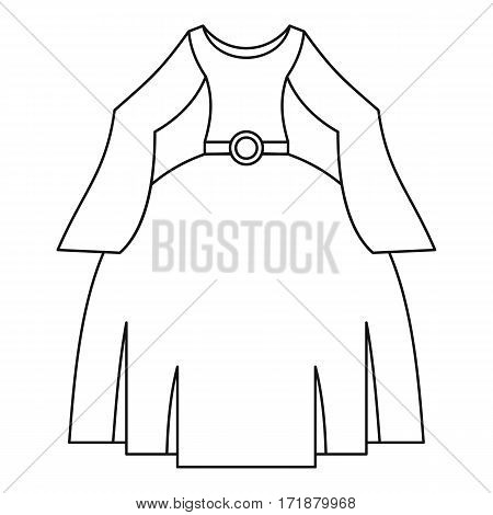 Princess dress icon. Outline illustration of princess dress vector icon for web