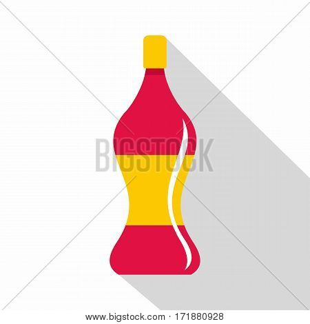Soda water icon. Flat illustration of soda water vector icon for web