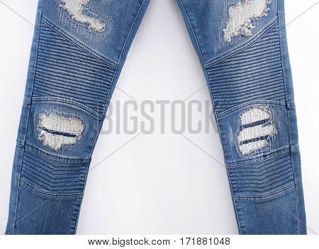 Leg torn Jeans