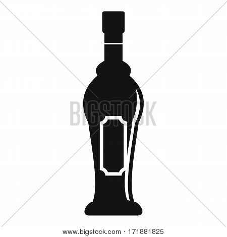Alcohol bottle icon. Simple illustration of alcohol bottle vector icon for web
