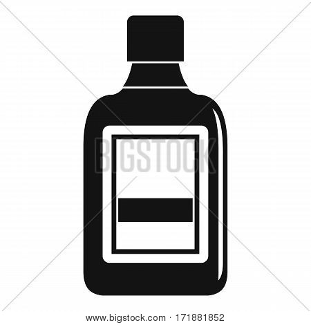 Plastic bottle icon. Simple illustration of plastic bottle vector icon for web