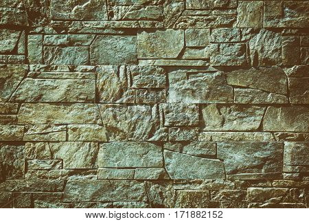 Background of stone wall texture technology pattern design retro style