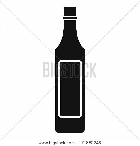 Vinegar bottle icon. Simple illustration of vinegar bottle vector icon for web