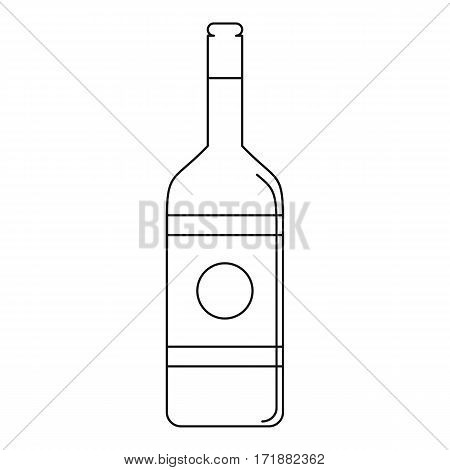 Vodka icon. Outline illustration of vodka vector icon for web