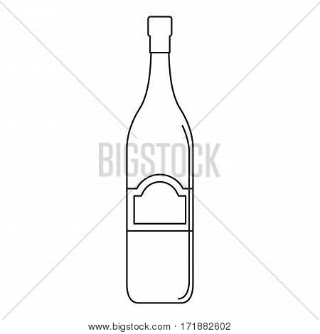 One bottle icon. Outline illustration of one bottle vector icon for web