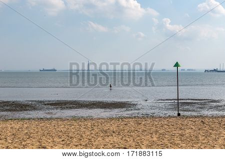 Southend on a sunny afternoon. Taken in July on a hot sunny day but before the school holidays so beach was quiet.