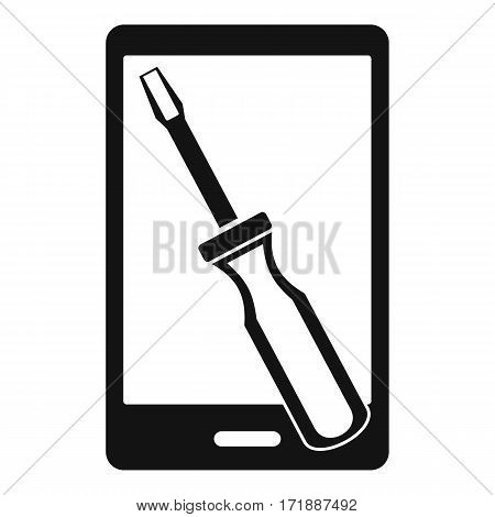 Renovation phone icon. Simple illustration of renovation phone vector icon for web