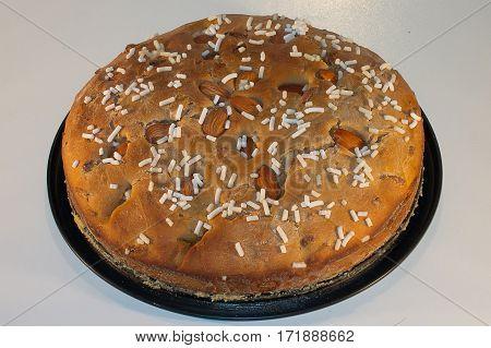 Vegetarian Food - vegetarian cake with almonds
