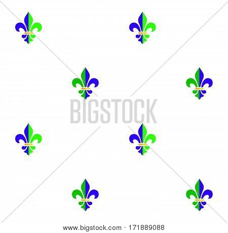 Carnival, Festival, Masquerade decorative pattern design. Mardi Gras Carnival pattern with fleur-de-lis emblem, symbol. Illustration