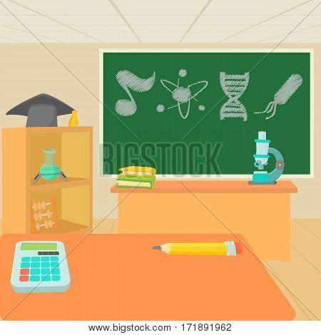 Education classroom concept set. Cartoon illustration of education classroom vector concept for web