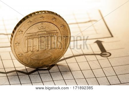 coin and clock on chart bussnes concept