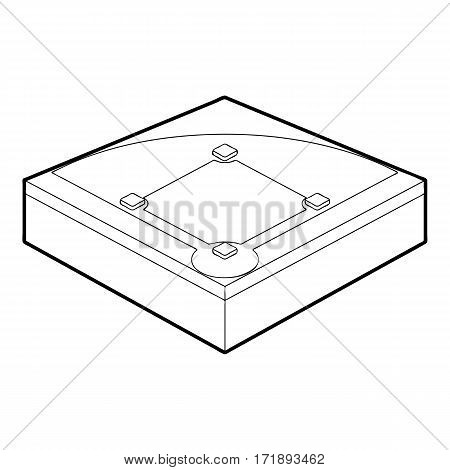 Baseball field icon. Outline illustration of baseball field vector icon for web
