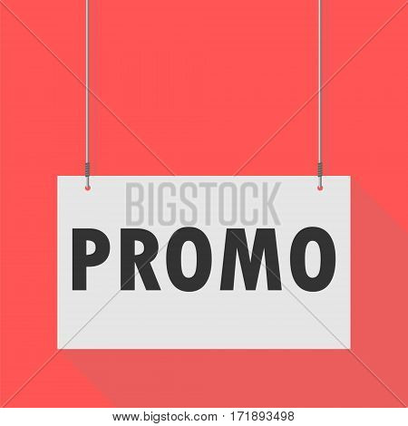 Simple Hanging Sign promo on red background